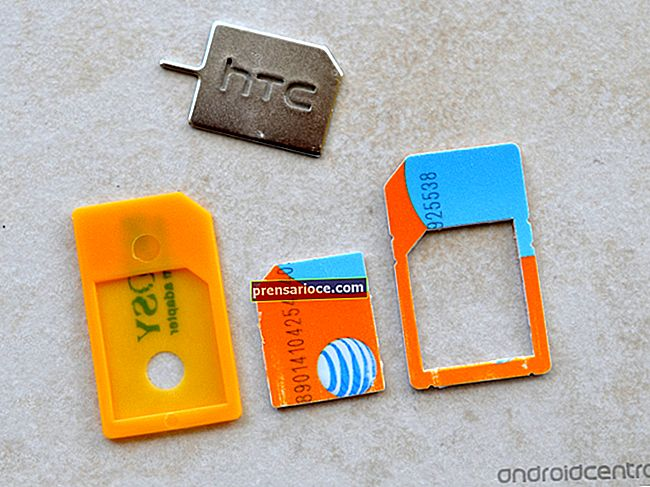 Come cambiare la scheda SIM in un HTC Touch
