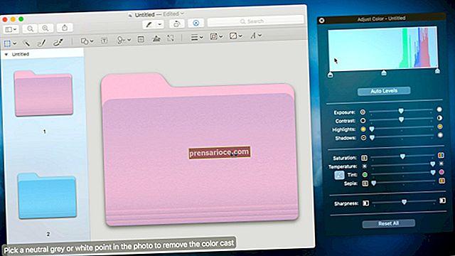 Come ingrandire le cartelle su un MacBook